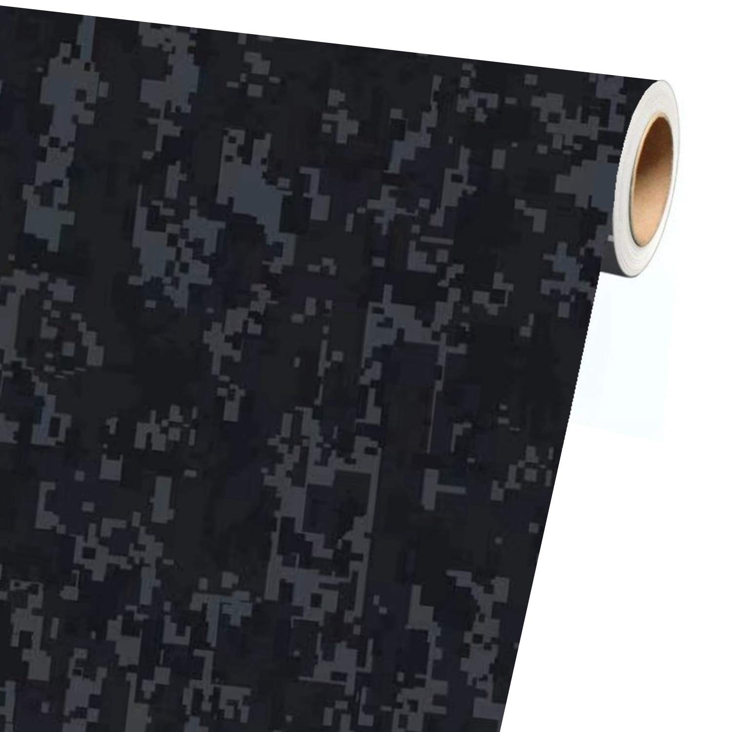 1ft x 5ft, Snow Camo VViViD Vinyl Camouflage Pattern Wrap Air-Release Adhesive Film Sheets