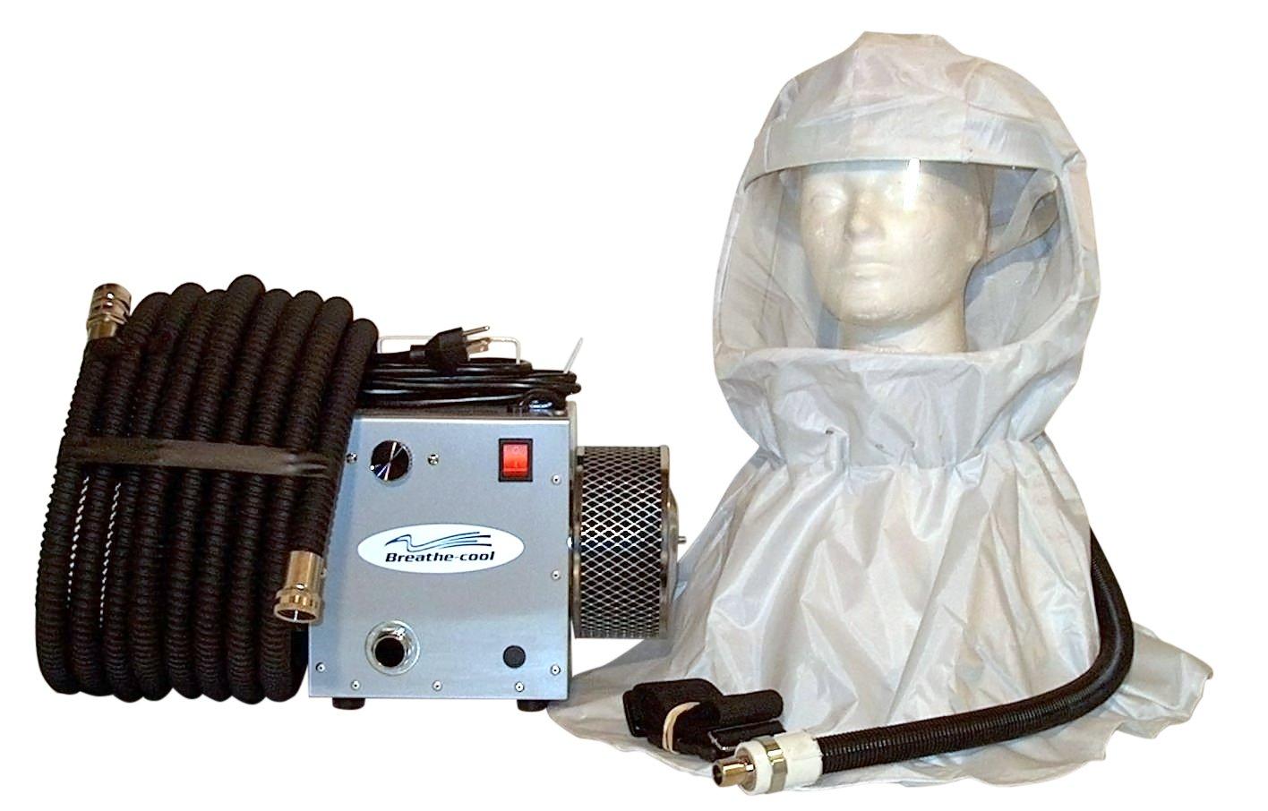Breathecool II Supplied Fresh Air Respirator System w/vinyl hood w/25' air hose
