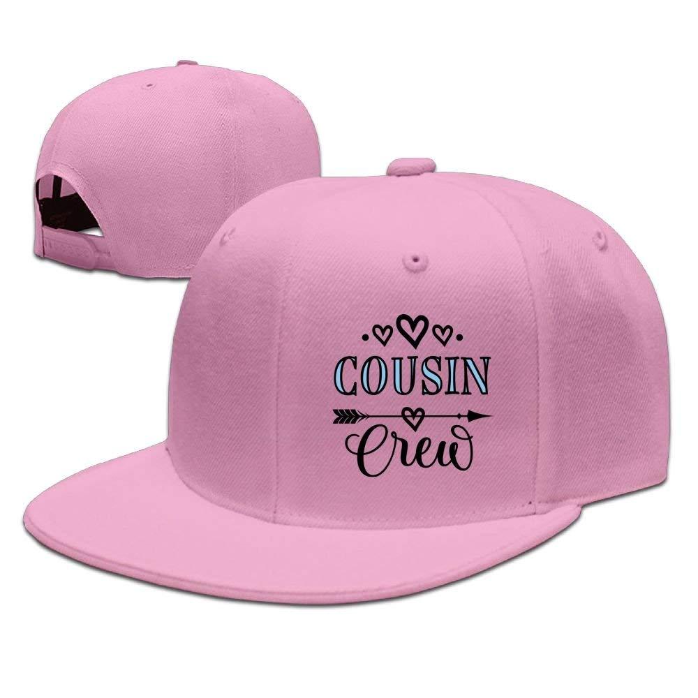 1b17a3551a2 Cousin Crew Unisex Snapback Adjustable Flat Bill Baseball Cap Pink at  Amazon Men s Clothing store