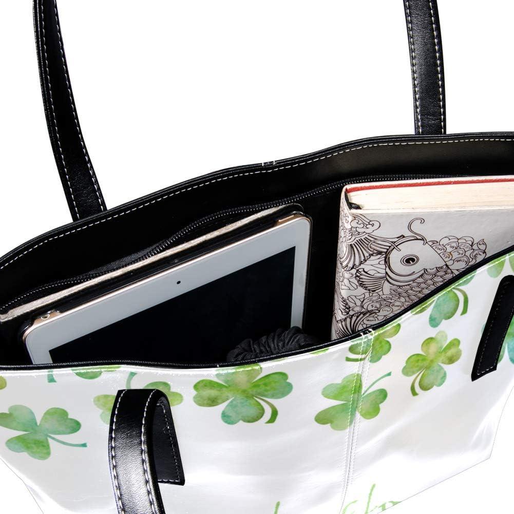Succulent Plants Leather Handbags for Women//Girl Handmade Roomy Soft Tote Bag