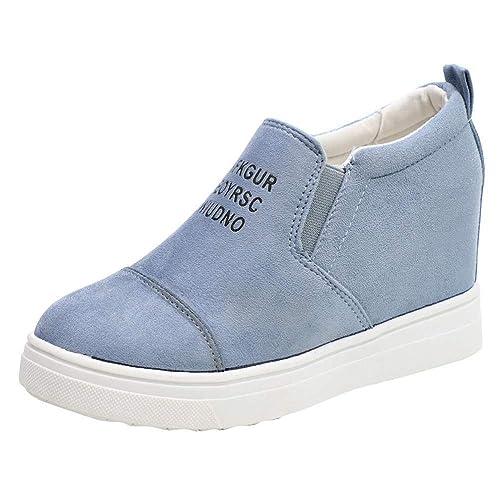 Minetom Mujer Mocasines de Gamuza Moda Cómodo Antideslizante Loafers Zapatos Primavera Casual Plataforma Sneakers: Amazon.es: Zapatos y complementos