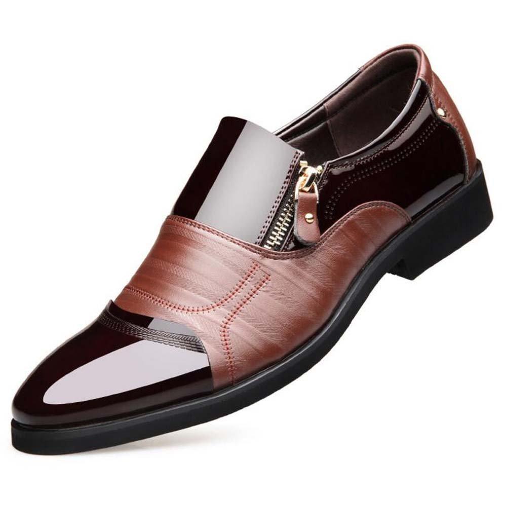 MYI Zapatos de Hombre New Spring Business Zapatos Ocasionales Zapatos Zapatos Vestido Zapatos de Boda British Tide Zapatos 40 EU|Brown