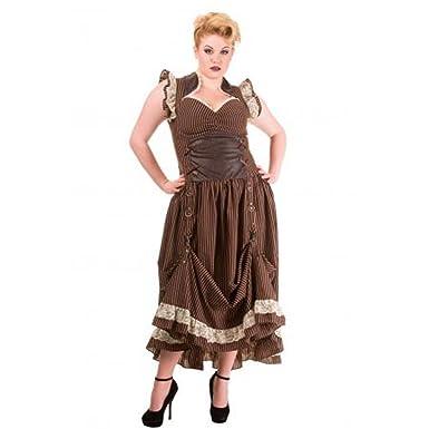 Plus Size Steampunk Dress. The Elizabeth Dress. Black & Brown ...