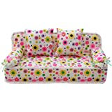 NUOLUX Dollhouse Miniature Furniture Sofa Couch Barbie Accessories