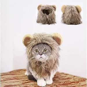 zhixing Halloween Pet Cat Dog Lion Headgear Clothes Disfraces de ...