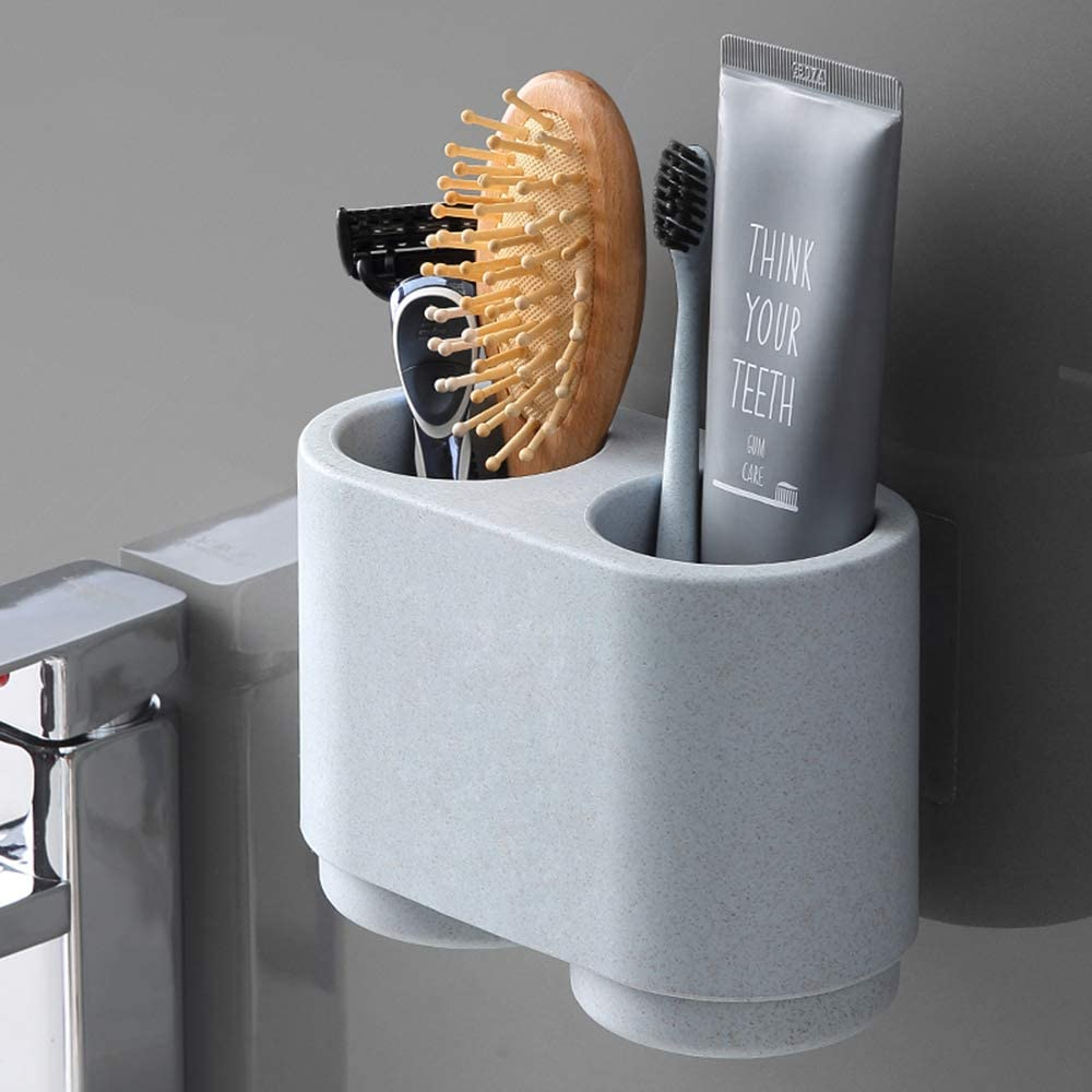 CW/_ FT KF/_ 330ml Portable Couple Cup Toothbrush Holder Washing Drinking Bathroo