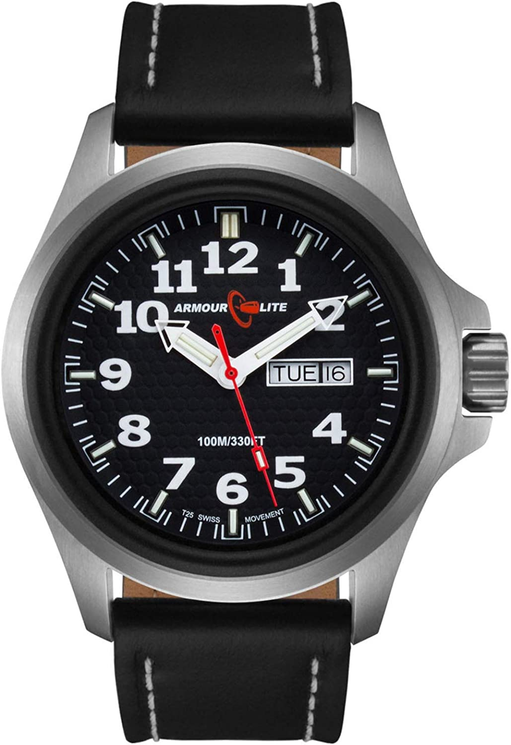 Armourlite Officer Series AL801 Watch – Black Dial – Black Leather Band