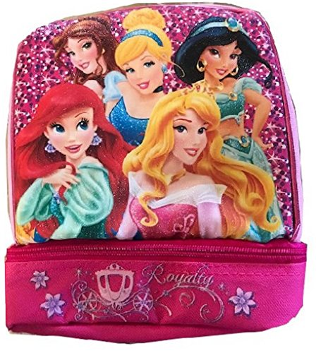 Princess Lunch Bag - Disney Princess Lunchbox Dual Compartment Insulated Lunch Kit
