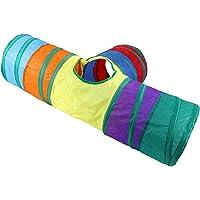 PETSOLA 3-Way Cat Tunnel Crawl Tube Kids Toddler Rabbit Small Dog Equipment Toy