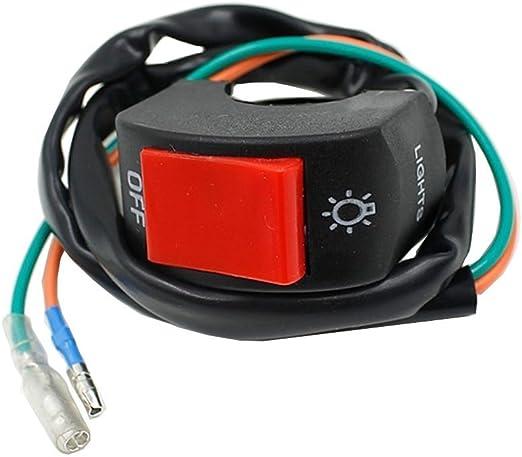 Universal 7//8 Handlebar Turn Signal Light /& Horn Switch Button for Spotlight Scooter Electrombile Moped