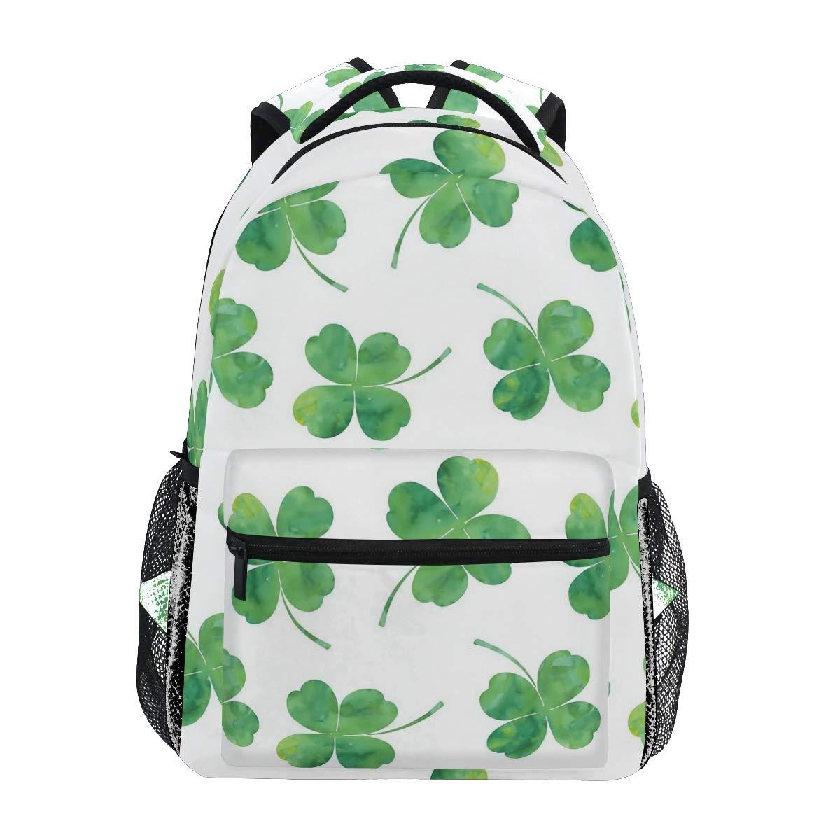 fbe7f67ff2bd Amazon.com: Four Leaf Clover Backpacks College School Book Bag ...