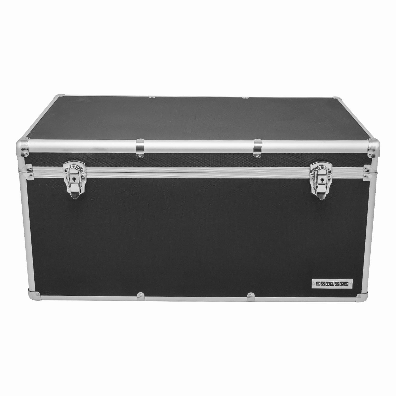 Aluminium-Rahmenkoffer Transport-Box, Koffer in Schwarz mit 82 Liter ...