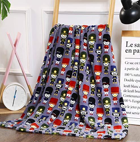 Nutcracker Blanket - NobleHouse Velvet Touch Holiday Throw Fleece Blanket (50