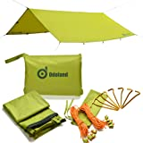 Odoland Sun Canopy Water Resistant with Tent linen Spanner Ultra Lightweight with carry bag outdoor camping backpacking Beach Square Rectangle Sun Shade Canopy Awning Parasol