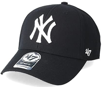 2ae333c8fbd Image Unavailable. Image not available for. Color   47 New York Yankees MLB  Black White Brand MVP Curved Cap