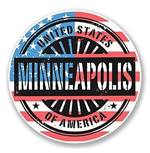 Minneapolis Minnesota USA WINDOW CLING STICKER Car Van Campervan Glass - Sticker Graphic - Auto, Wall, Laptop, Cell, Truck Sticker for Windows, Cars, - Minneapolis Glasses