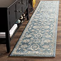 Safavieh Sofia Collection SOF386C Vintage Blue and Beige Distressed Runner (22 x 12)