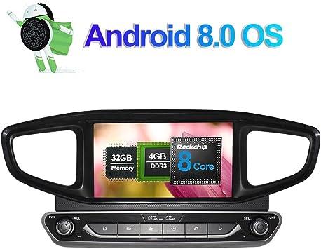 8 Zoll 4gb Ram Android 8 0 Autoradio Stereo Cd Dvd Multimedia Player Für Hyundai Ioniq 2016 Ioniq Hybrid Lhd Mit Bluetooth Gps Navigation 32gb Rom Unterstützung Fm Am Rds Wlan 4g Kamera Eingang