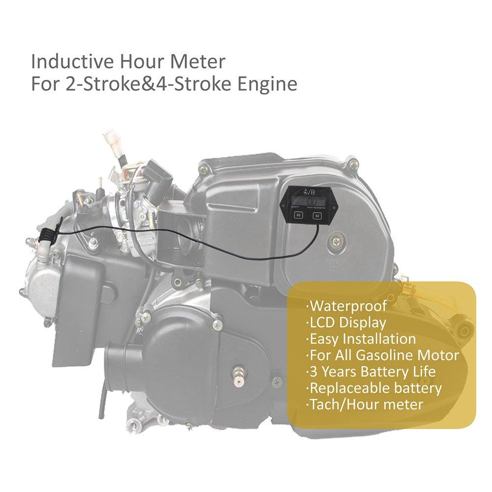 Cavalletto digitale LCD Racing accensione motore Tach Contaore contagiri gauge
