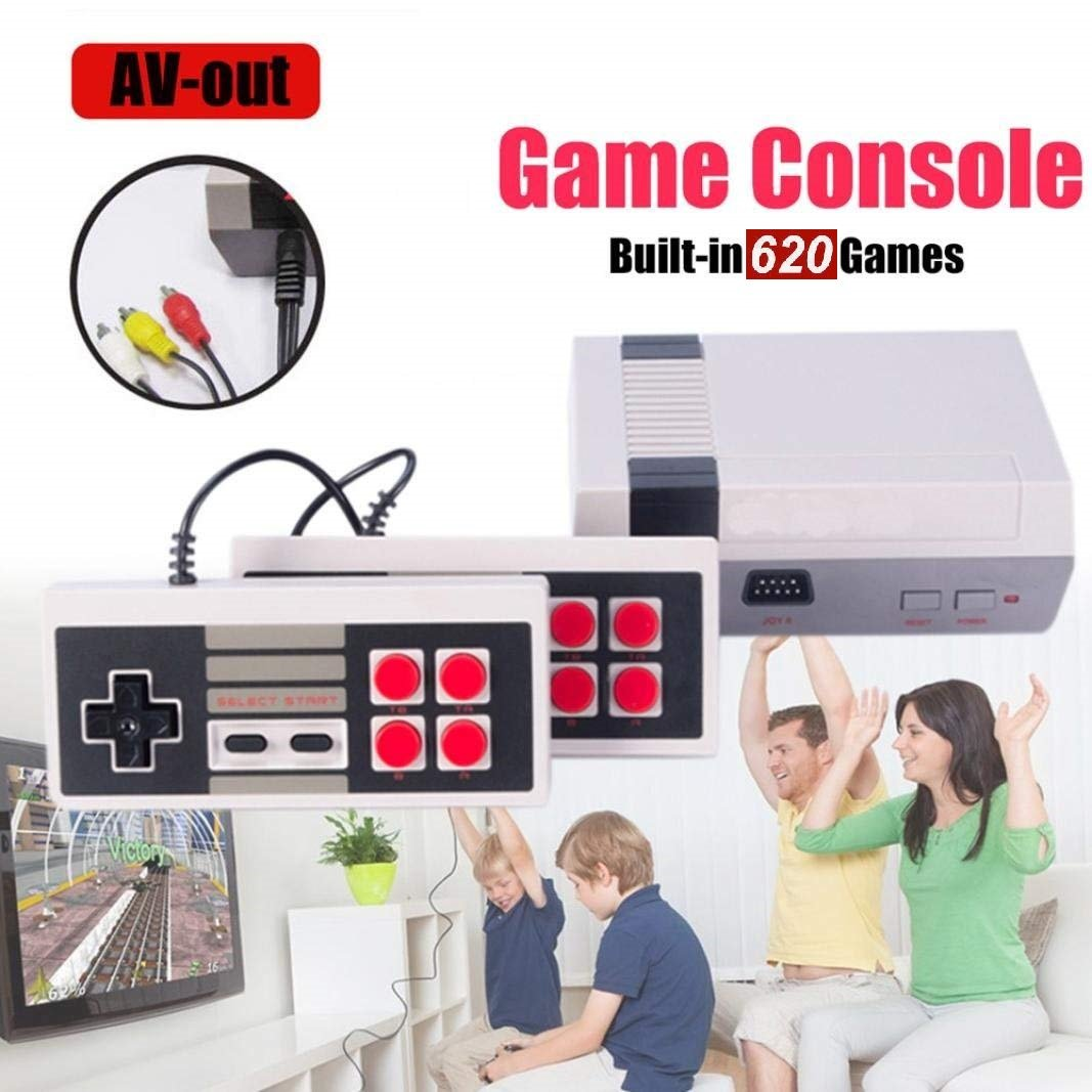 Mini Video Game Console Game Player Entertainment System Classic 620 Built-in Games 2 Controllers by KeyroTeck (Image #6)