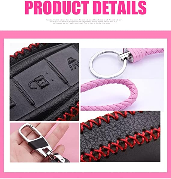 for G Series G25 G37 JX35 Q Series Q50 Q60S Q70L QX EX FX M Womens Pink Genuine Leather Protective Fob Skin Cover Shell Key Jacket for Nissan Infiniti Keyless Smart Key Case Cover 4 Buttons
