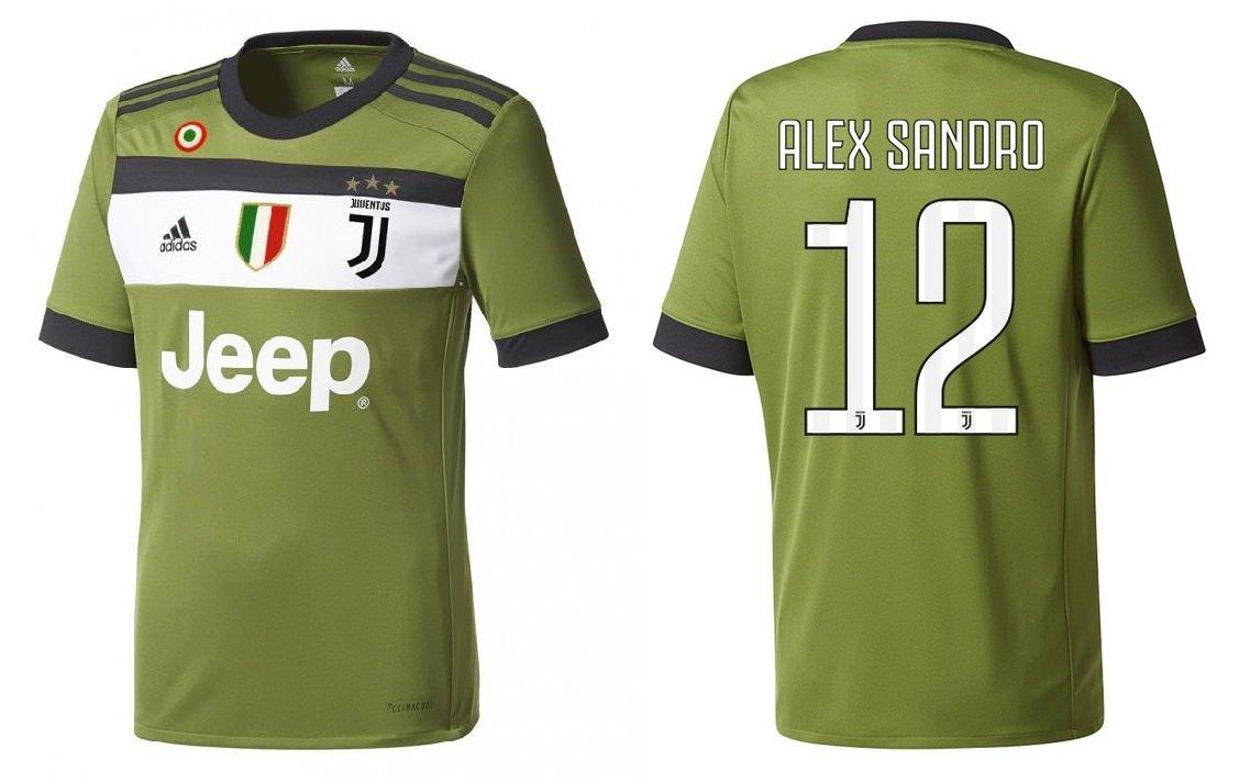 Trikot Kinder Juventus 2017-2018 Third Coppa Scudetto - Alex Sandro 12