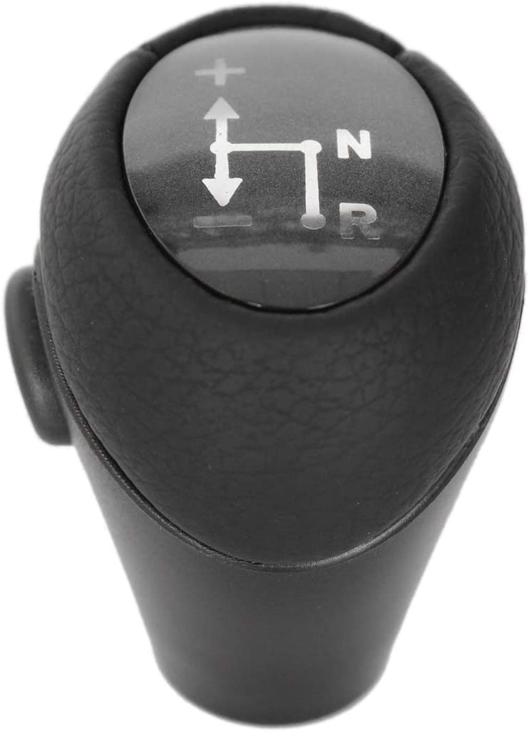 Semoic Gear Knob Automatic Knob Black for Smart Fortwo 450 451 1998-2014 Smart Roadster 452 2003-2006 Gear Head Case Sleeve