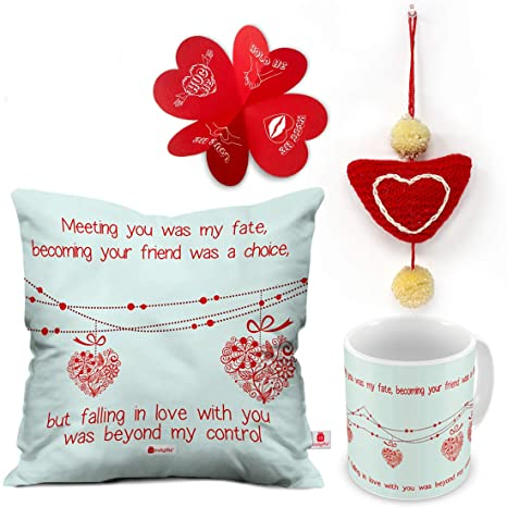 Buy Indigifts Valentine Gifts Love Quote Hearts On A String White