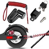 Bloqueo del Freno de Disco, Candado de Disco, Scooter Eléctrico Cerradura, para Scooter Eléctrico Antirrobo Cable De…