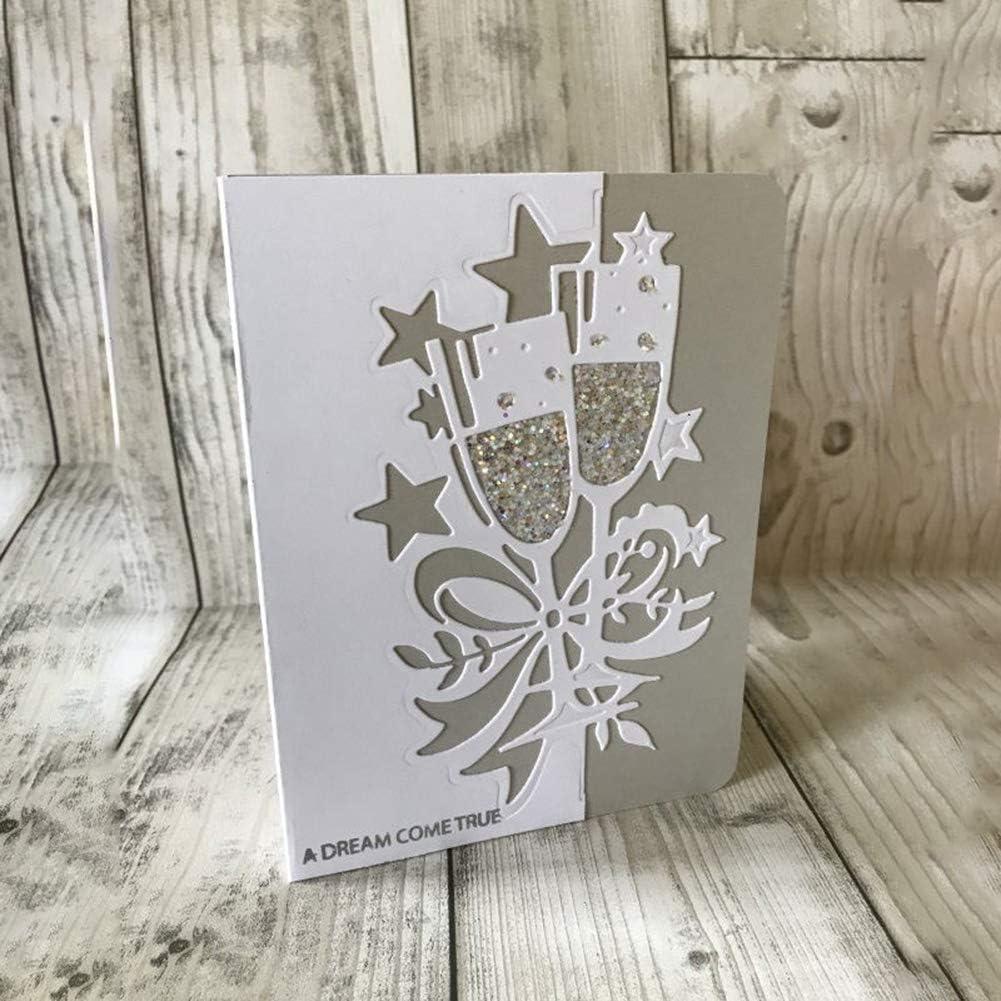 Metal Candle Pattern Cutting Dies Stencil Scrapbooking Album Embossing DIY Card