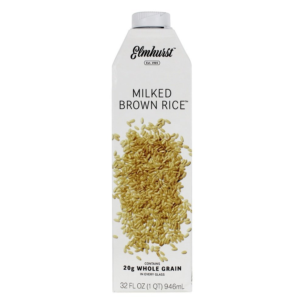 Elmhurst Milked - Brown Rice Milk - 32 Fluid Ounces. Only 5 Ingredients, 20g Whole Grain, Non Dairy, No Added Gums or Emulsifiers, Vegan