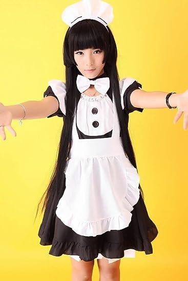 Amazon.com: Disfraz de sirvienta Anime Vocaloid Gothic ...