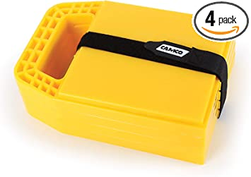 Amazon Com Camco Rv Stabilizing Jack Pads Helps Prevent Jacks From Sinking 6 5 Inch X 9 Inch Pad 4 Pack 44595 Yellow Automotive