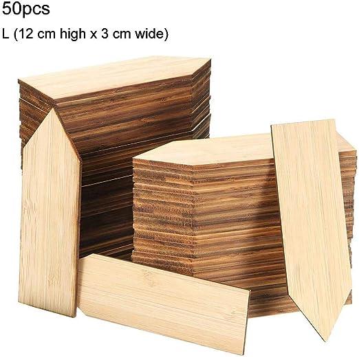 Etiquetas de plantas de bambú 50 piezas de madera Marcadores de ...