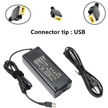 Adaptador de CA de punta cuadrada 135W Cargador de adaptador para Lenovo IdeaPad Y40-70 Y50-70 Y70-70, ThinkPad T440P T450P T460P T560P T530 T540 T560 ...