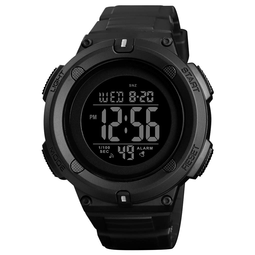 Skmei Watches Men Black Large Case Digital Sports Watch for Mens Fashion Outdoor Waterproof Watches