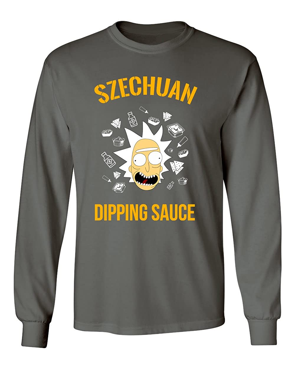 Ricky /& Morty Szechuan Dipping Sauce Funny Mens Hoodie Hooded Sweatshirt
