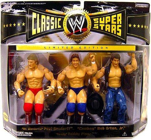 WWE Jakks Pacific Wrestling Classic Superstars Exclusive Series 6 Action Figure 3-Pack Rowdy Roddy Piper, Paul Orndorff & Bob Orton Jr.