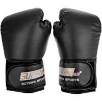 Prettyia 1 Pair PU Leather Boxing Gloves Fight Punch Bag MMA Muay Thai Gloves Pad Gloves