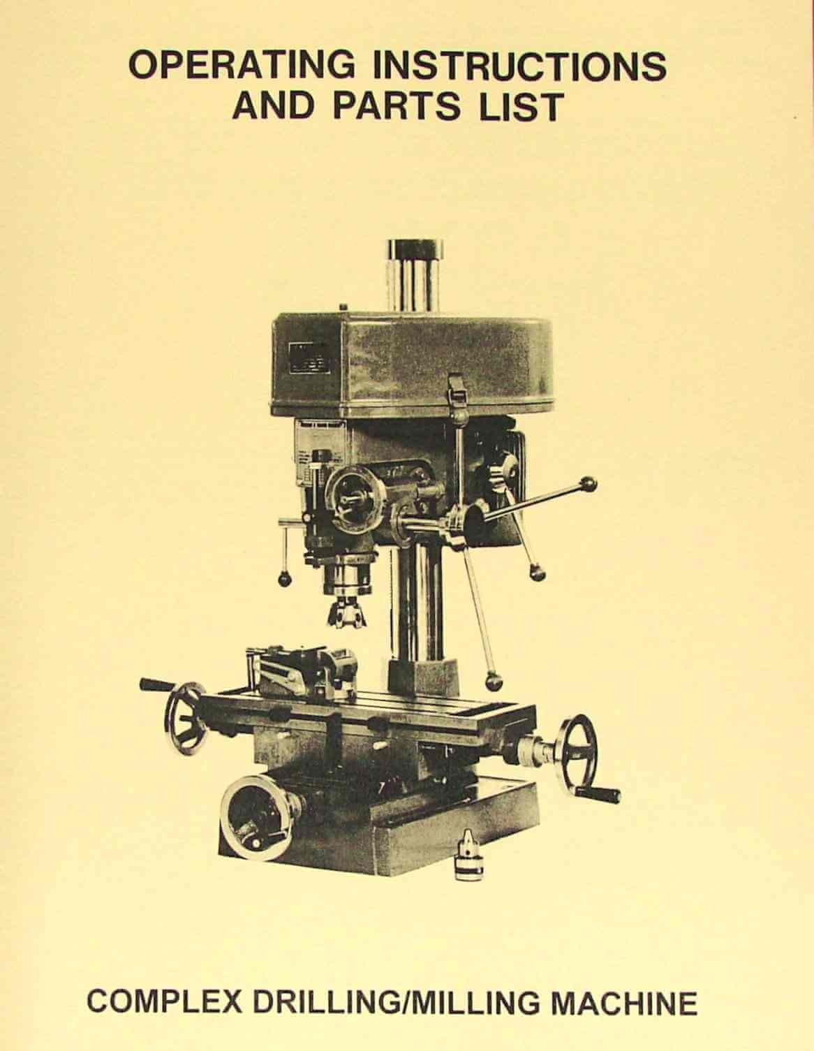 JET-Asian JET-16 Drill Milling Machine Instructions and