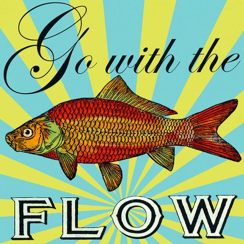 Shelly Kennedy Oopsy Daisy (Oopsy Daisy Go with the Flow Stretched Canvas Wall Art by Shelly Kennedy, 14 by 14-Inch)