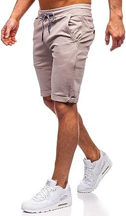 BOLF Pantaloncini Corti in Denim Tipo Cargo da Uomo Mix 6F6