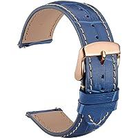 WOCCI Sgancio rapido cinturino orologio in sbalzato con fibbia in oro rosa (18mm 20mm 22mm)