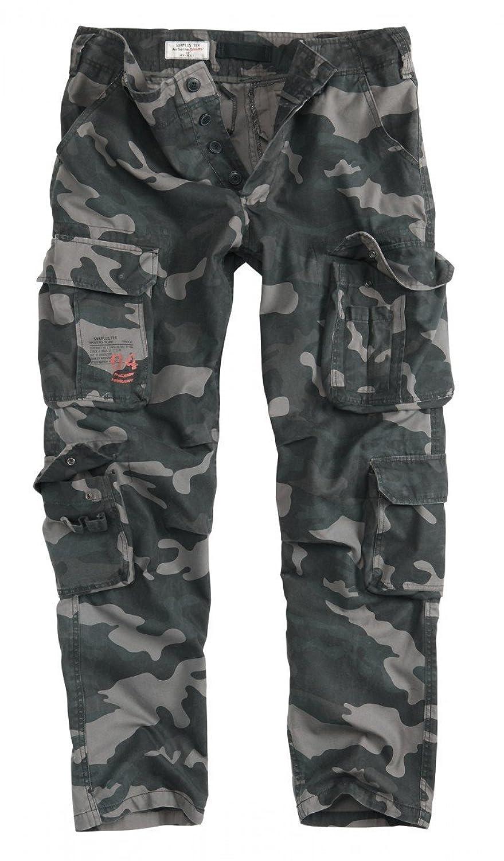 Surplus Mens Cargo Pants Airborne Vintage Slimmy, Color: Blackcamo, Size: M