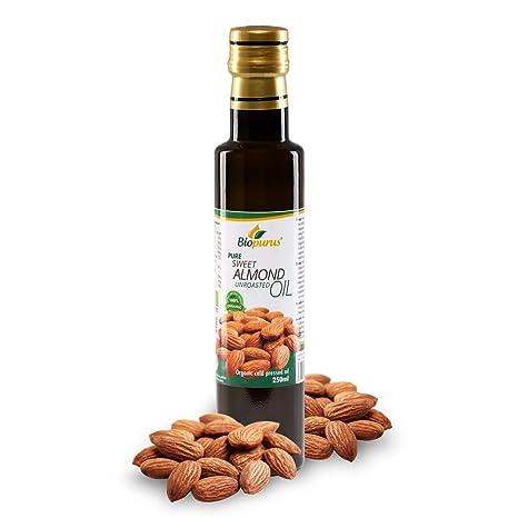 Certificado Orgánico Prensado en Frío Dulce Almendra - sin Tostar Aceite 250ml Biopurus