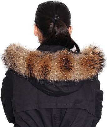 TALLA L. Dancel de pelo Mujer Bufanda Bufanda F ¨ ¹ r abrigo de invierno Cuello o capucha Edges