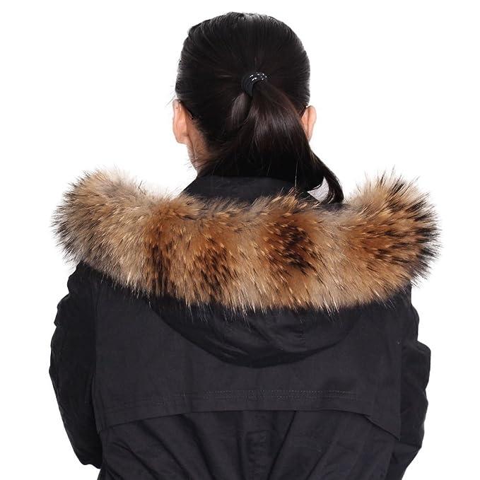 Dancel de pelo Mujer Bufanda Bufanda F š ¹ r abrigo de invierno Cuello o capucha Edges: Amazon.es: Ropa y accesorios