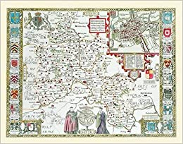 John Speed Map Of Oxfordshire 1611 20 X 16 Photographic Print Of