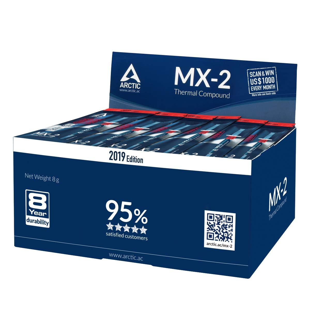 ARCTIC MX-2 Edition 2019 - Pasta de interfaz térmica a base de carbono - Disipador de calor - Fácil de aplicar - alta durabilidad - 8g: Amazon.es: ...