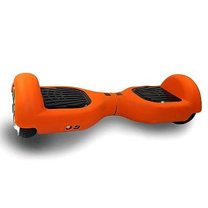 RCB Funda Cubierta Protectora de Silicona para Patinete Eléctrico Balance Board de 6.5 Pulgadas (Orange)